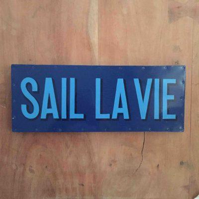 sail la vie tekstbord - zeilcadeau van sportcadeautjes