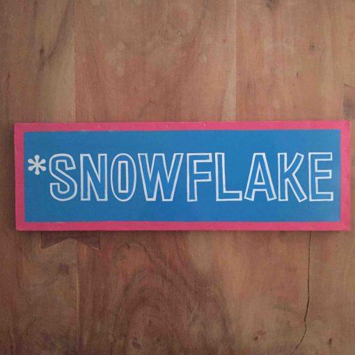 snowflake tekstbord - skicadeau van sportcadeautjes