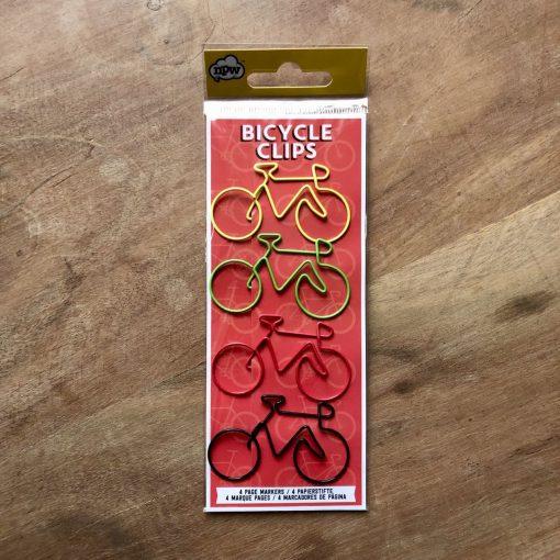 4 paperclips met fietsen - fietscadeau van sportcadeautjes