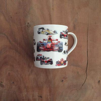 mok met f1 raceautos - autosport cadeau van sportcadeautjes