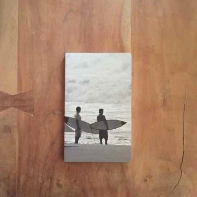 notitieboekje met surfer - surfcadeautjes van sportcadeautjes