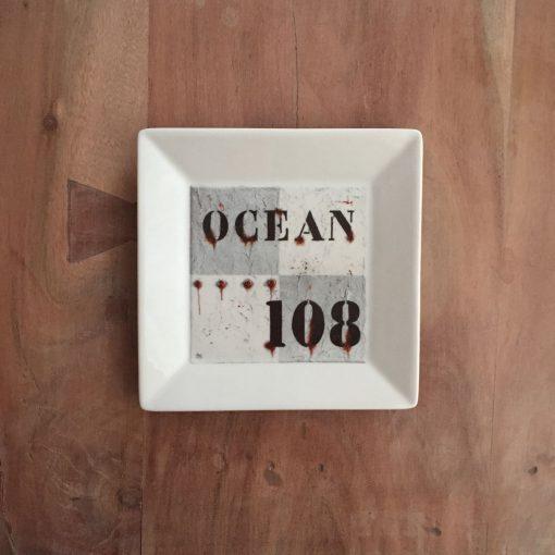 vierkant bord ocean - zeilcadeau van sportcadeautjes