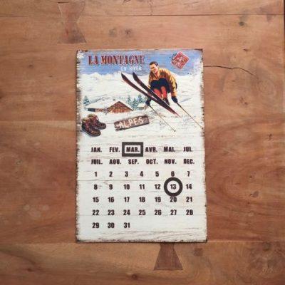 magnetische kalender skiën - skicadeau van sportcadeautjes
