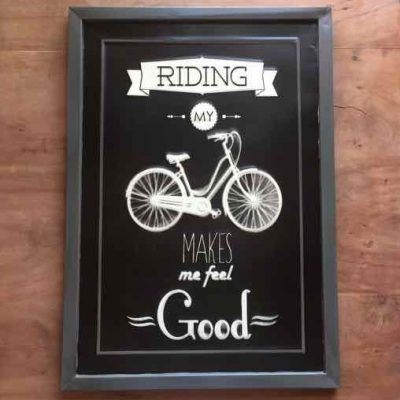 tekstbord riding my bike - fietscadeautjes van sportcadeautjes