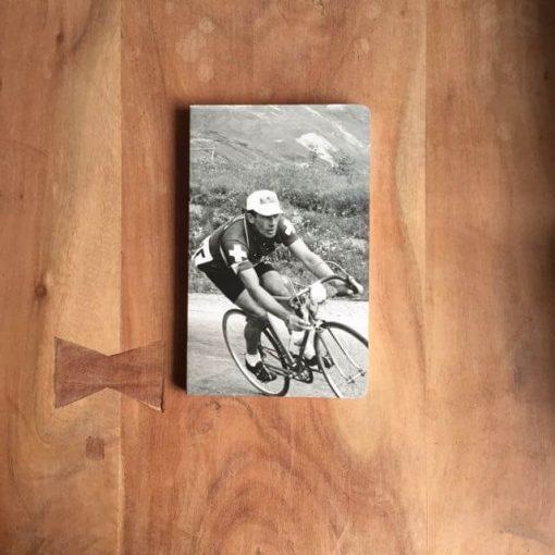 notitieboekje met wielrenner - wielrencadeautjes van sportcadeautjes