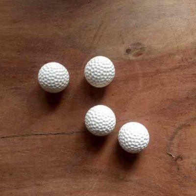 4 golfbal magneten - golfcadeau van sportcadeautjes