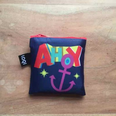 LOQI Foldable Bag Nautical Ahoy – zeilcadeau van sportcadeautjes