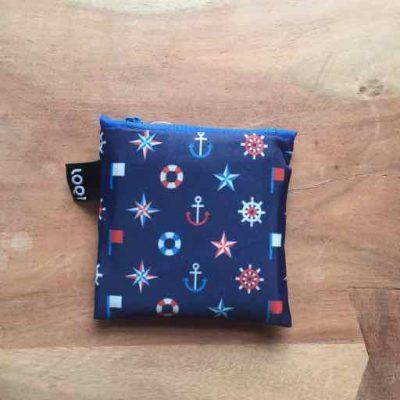 LOQI Foldable Bag Nautical - nautisch cadeau van sportcadeautjes