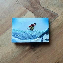 Snowboarder magneet - snowboardcadeautjes van sportcadeautjes
