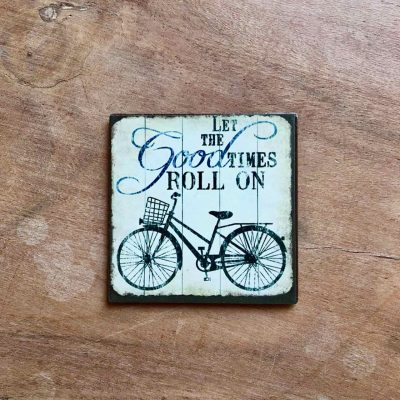 let the good times roll on fiets magneet - fietscadeautjes van sportcadeautjes