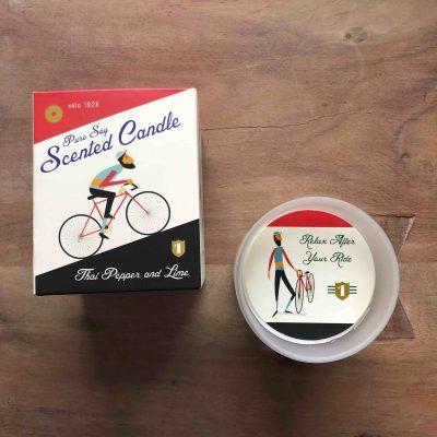 Le Bicycle geurkaars - fietscadeautjes van sportcadeautjes