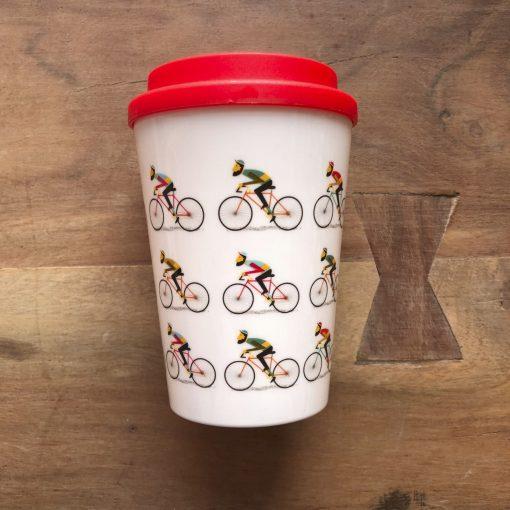Le bicycle herbruikbare reisbeker - wielrencadeautjes van sportcadeautjes