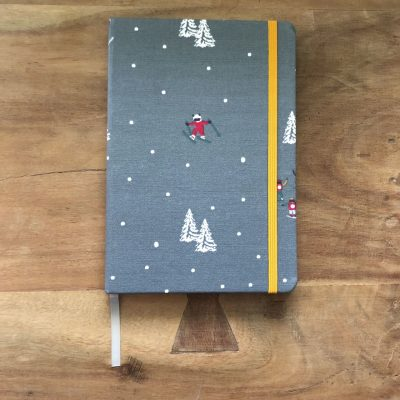 notitieboek A5 skiers en snowboarders - skicadeautje van sportcadeautjes