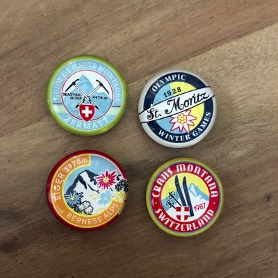 4 alpine magneten - ski cadeau van sportcadeautjes