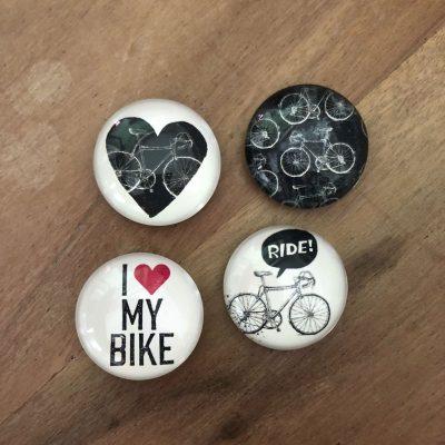 4 fiets magneten - fietscadeau van sportcadeautjes