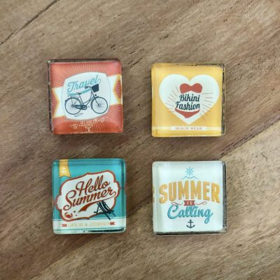 4 sportzomer magneten - sportief cadeau van sportcadeautjes
