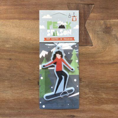 snowboardster luchtverfrisser - snowboardcadeau van sportcadeautjes